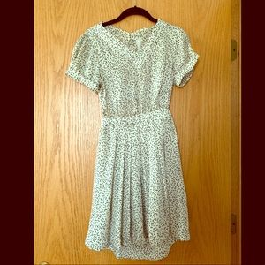 Vintage-style Open Back Mini Dress